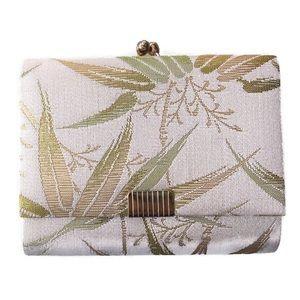 Vintage Metallic Bamboo Wallet